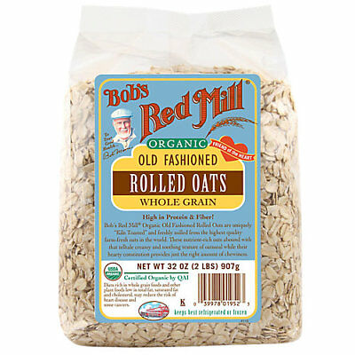 Bobs Red Mill Organic Rolled Oats - 32 Ounces Oats