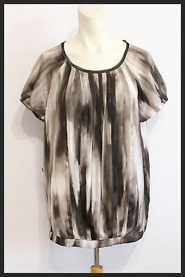 Simply Vera Wang LS V Neck Collars Pleated Shoulders Blouse WM Size PXL NWT