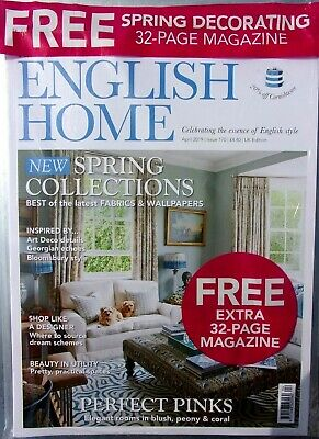 The English Home Magazine April 2019 With Free Spring Decorating Magazine ~ New