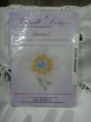 Zundt Design Swiss MACHINE Embroidery designs quality FLOWERS ALL FORMATS Sealed