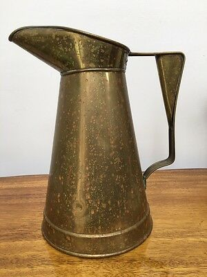 Vintage Brass Water Pitcher,Tankard,Antiques,Americana,Urn