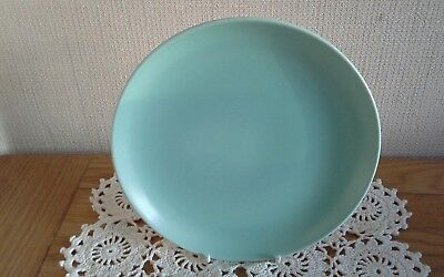 Vintage Poole Twin tone ice green side plate, cake plate. 17.5 cm