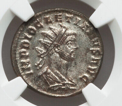 Diocletian as Divus Jupiter on rev AD284-305, Rare NGC MS Strike 5/5 Surface 3/5