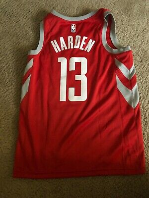 45885d925b78 Nike Houston Rockets James Harden Swingman Jersey NBA Icon Edition Size M