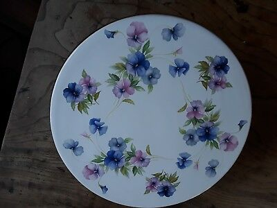 Lovely Guilded Comport/Cake Stand - Pansies By Studio Ceramics Devon