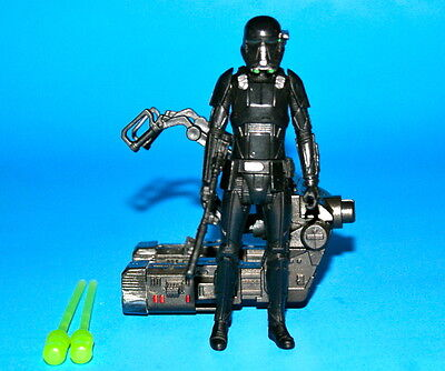 """STAR WARS ROGUE ONE IMPERIAL DEATH TROOPER with DUAL ROCKET LAUNCHER LOOSE 3.75/"""""""