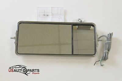 """Stainless 60029 United Pacific 7/""""x16/"""" West Coat Mirror w//Convex Lower Mirror"""