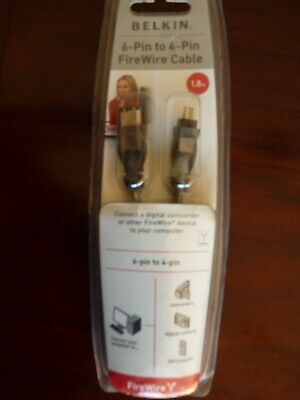 Belkin 6-Pin To 4-Pin Firewire Cable -1.8M