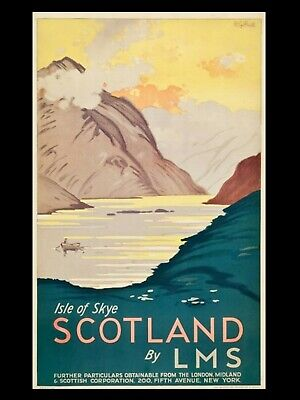 "ISLE OF SKYE SCOTLAND LMS 16"" x 12"" Reproduction Promo Poster Photograph"