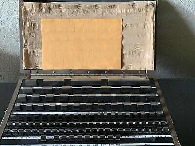 Starett Webber Gage Div. RS112MA Grade 2 Steel Precision Gage Blocks