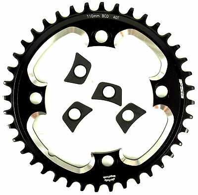 FSA ABS Megatooth Narrow Wide Chainring 38T//110mm BCD Black Cyclocross Gravel