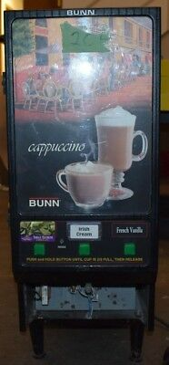 Bunn-o-Matic HC-3-BLK/SST 3-Flavor Dispenser Cappuccino Machine Used Sold as is
