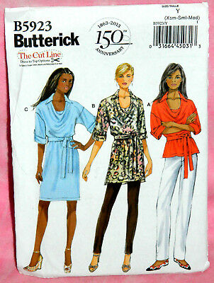 Butterick See /& Sew Easy Pattern B6309 Misses' Cowl Neck Pullover Tops XS-XXL