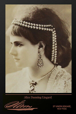 ALICE DUNNING LINGARD By Napoleon Sarony Vintage Photograph A++ RP Cabinet Card