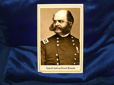 Art Prints 1862 Dated Antique Print Ambrose Burnside Union Army General American Civil War Selected Material