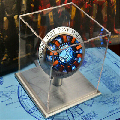 1:1 Iron Man LED ARC Reactor MK1 Tony Stark Heart Light Up USB DIY Model Hit Toy