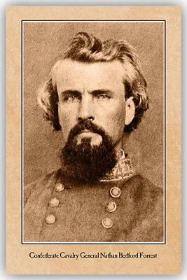 NATHAN BEDFORD FORREST Confederate General Civil War Vintage Photograph CARD CDV