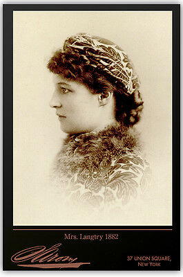LILLIE LANGTRY By Napoleon Sarony Vintage Photograph A++ Cabinet Card