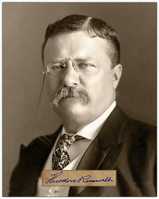 PRESIDENT THEODORE ROOSEVELT Photograph Autograph 8x10 Reprint RP