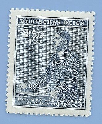 Nazi Germany Third Reich Nazi B&M Adolf Hitler 2.50+1.50 stamp MNH WW2 ERA