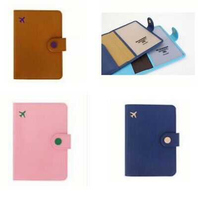 RFID Blocking Wallet Travel Card Case Organizer Passport Holder Cover Protector