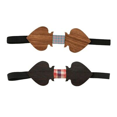 Man Bow Tie Wooden Tie Trend Accessory Suit Tuxedo for Wedding - One size K K1G8