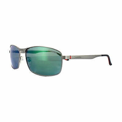 7fed204cec Carrera POLARIZED Sunglasses 8012/S R80 5Z Dark Ruthenium Grey W/ Green  Mirror
