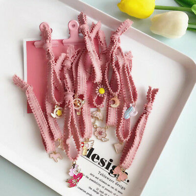 Pink Kids Girl Lady Elastic Rubber Hair Bands Ponytail Holder Head Rope Ties Hot
