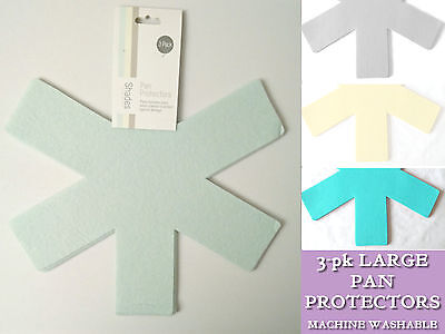 3 pack LARGE PAN PROTECTORS Felt asterisk SEPARATORS ANTI SCRATCH STACKING MATS