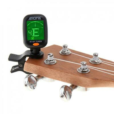 Digital LCD Chromatic Clip-On Electric Tuner Bass Guitar Ukulele Violin Foldable