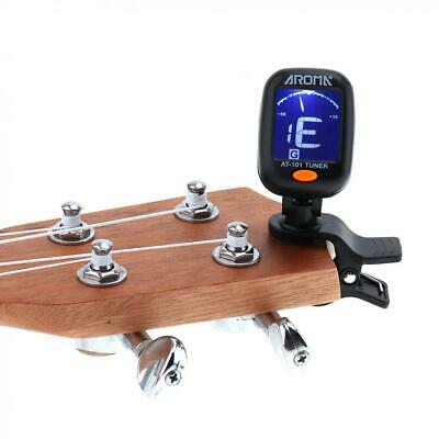 Foldable Digital Chromatic LCD Clip-On Electric Tuner Bass Guitar Ukulele Violin
