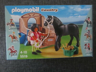 Set Playmobil Referencia  5519 Caballo Corcel Negro