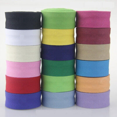 100% Cotton Bias Binding Tape Folded 1 Inch Wide 25mm Trimming/Edging/Quilting