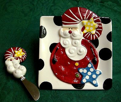 "Mud Pie  Santa ""Cheese Set Santa & Co"""