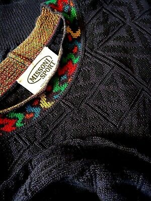 SWEATER  vintage 80's MISSONI SPORT TG.M made Italy RARE