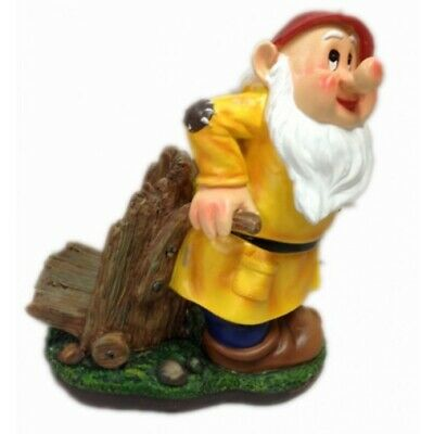 Garden Gnome with Cart Statue
