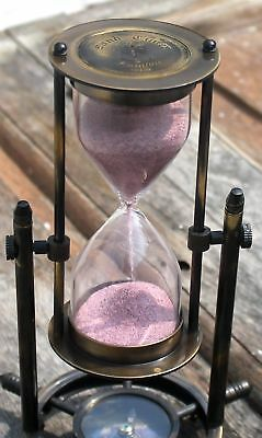 Halloween Antique Brass Vintage Sand Timer Hourglass Collectible Lab Astrolabe