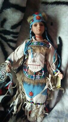 """R2019 New 16 inch Native American Doll /""""Ankti/"""" limited edition certificate"""