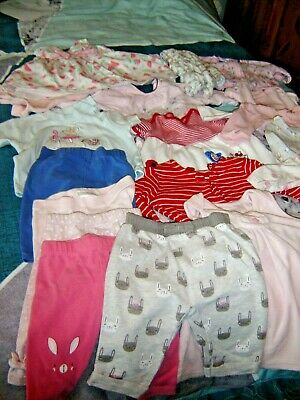 Job Lot Of Baby Girls Clothes Age 0-3 Months  20 Items
