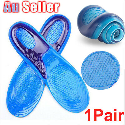 1 pair Massaging Insoles Thick Absorption Gel Elasticity High Arch Supports