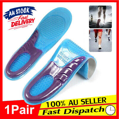 1 pair Massaging Insoles Absorption Gel High Elasticity Supports Thick Arch