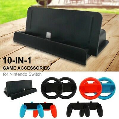 10-in-1 Game Accessories for Nintendo Switch Steering Wheel Handle Controller CA