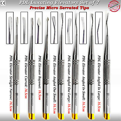 Dental PDL Luxating Root Elevators Extracting Tools 7pcs Precise Micro Serrated