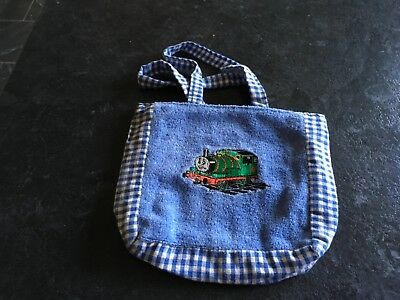 Percy Friend of Thomas Boys Party Bag/Sweetie etc Embroidered Cloth Bag
