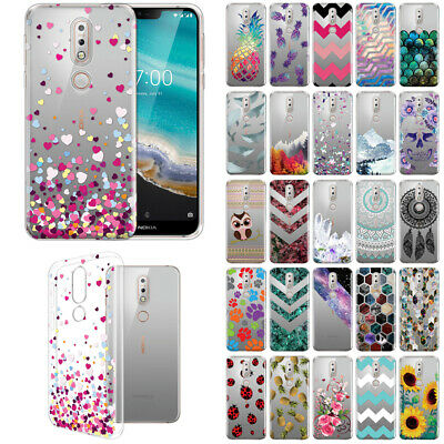 For Nokia 7.1 2018 5.84 inch Slim TPU Clear Silicone Gel Skin Back Case Cover