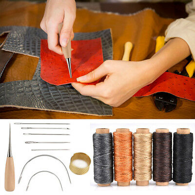 14pcs/set Leather Craft Tool Waxed Thread Cord Sewing Needles Shoe Repair 2019