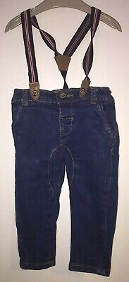 Boys Age 6-9 Months - Jasper Conran Jeans With Braces