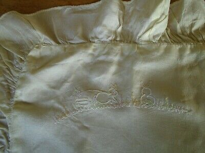 Vintage Pure Silk Baby Pillowcase