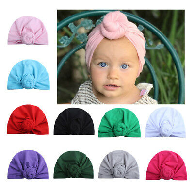 Elastic Turban Hats Baby Hat Newborn Lovely Cotton Beanie Cap Infant Headwear