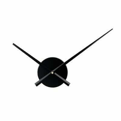 Large Wall Clock Mechanism Replacement Kit With Extra Long Dial Needles Black